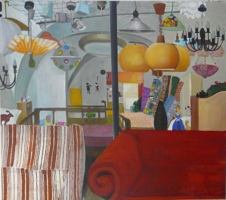 Bazar paměti II, 150 x 170 cm, akryl na plátně, 2009, soukromá sbírka