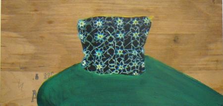 Bazar paměti XVI, 25 x 47 cm, akryl na dřevě, 2009, soukromá sbírka