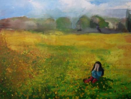 Alergie I, 70 x 100 cm, akryl na plátně, soukromá sbírka