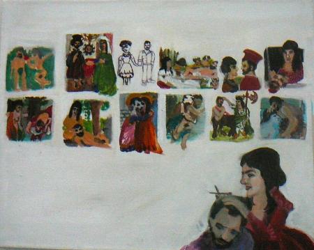 Aleš a Šárka, 40 x 50 cm, akryl na plátně
