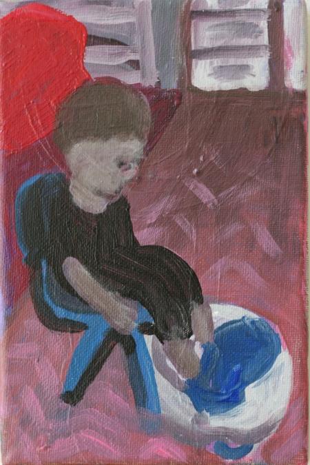BDŠZ - Alois II, 18 x 10 cm, akryl na plátně, 2012