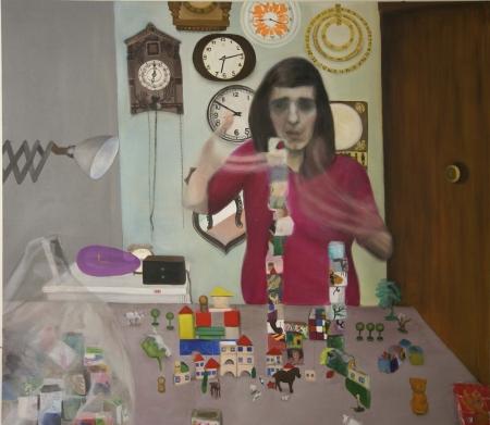 Bazar paměti IV, 150 x 170 cm, akryl na plátně, 2009, soukromá sbírka