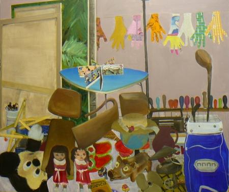 Bazar paměti V, 150 x 170 cm, akryl na plátně, 2009