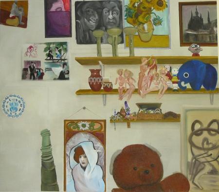 Bazar paměti VI, 150 x 170 cm, akryl na plátně, 2009