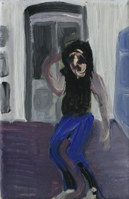 Brejk II, 18 x 10 cm, akryl na plátně, 2012