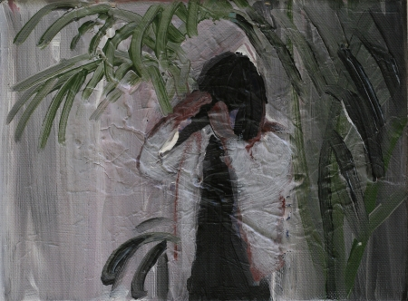 Bytové divadlo Šárky Zadákové - Jackson VIII, 10 x 18 cm, akryl na plátně, 2011