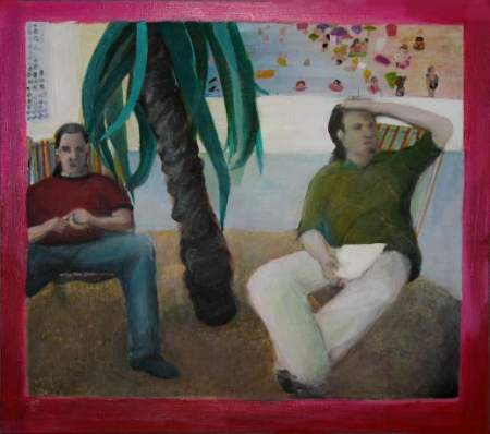 Diviš a Aldin, 30 x 30 cm, akryl na dřevě, soukromá sbírka