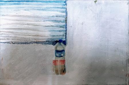 Gympl, 18 x 24 cm, akryl na plátně, 2009