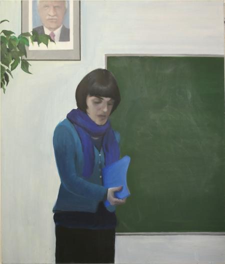 Gympl I, 170 x 150 cm, akryl na plátně, 2008