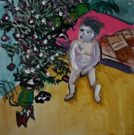 Ježíšek, 30 x 30 cm, akryl na plátně, 2010