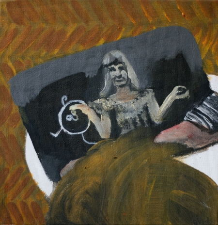 Jojo, 20 x 20 cm, akryl na plátně, 2010