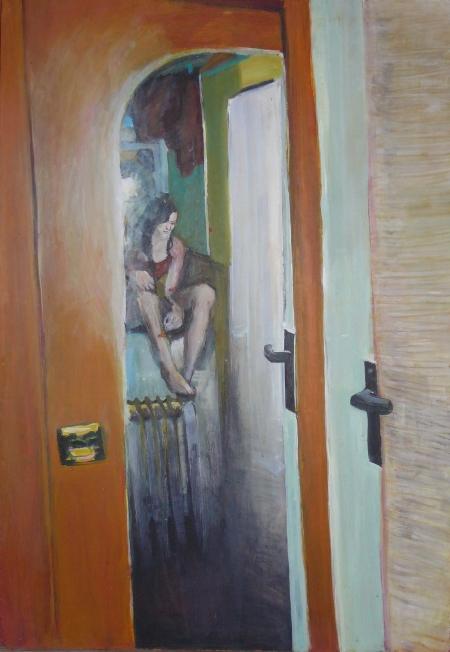 Kamenická 48 I., 85 x 50 cm, akryl na sololitu, 2003