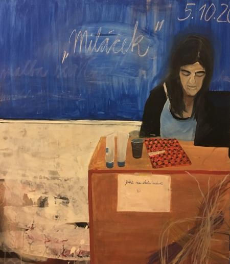Klárák, 170 x 145 cm, akryl na plátně, 2017