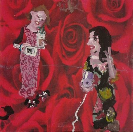 K´n´S I, 18 x 18 cm, akryl na plátně, 2007