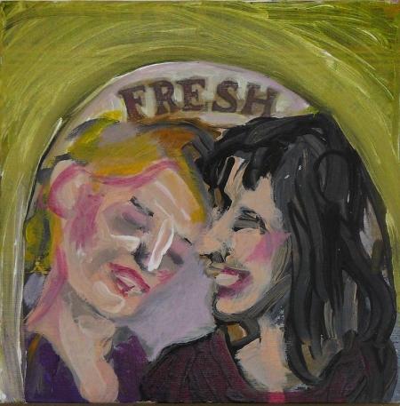 K´n´S II, 18 x 18 cm, akryl na plátně, 2007