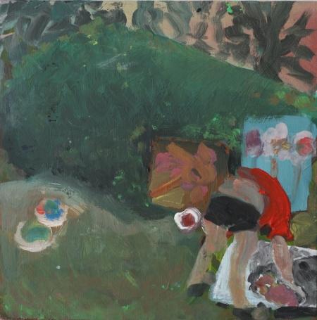 Kozín I, 20 x 20 cm, akryl na plátně, 2009