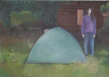 Kozín II, 70 x 100 cm, akryl na plátně