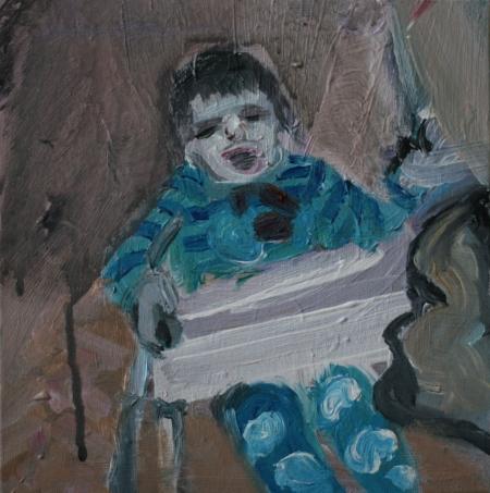 Alois, 20 x 20 cm, akryl na plátně, 2010