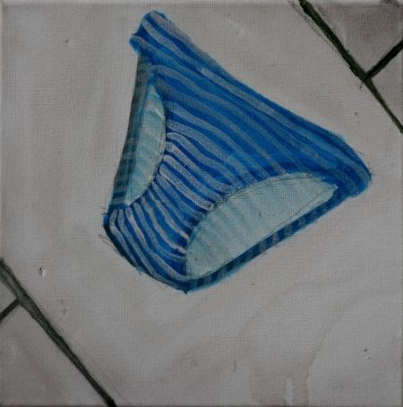Mimibazar VI, 25 x 25 cm, akryl na plátně, 2011