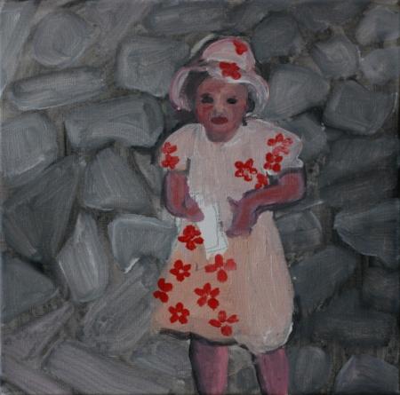 Mimibazar VII, 25 x 25 cm, akryl na plátně, 2011
