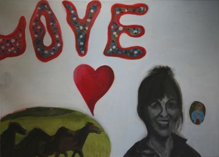 Love, 80 x 110 cm, akryl na plátně, 2012
