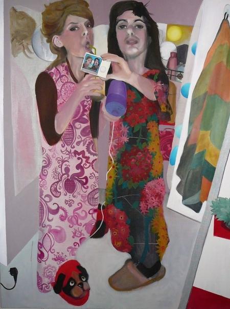 Nymfy, 180 x 140 cm, akryl na plátně, 2009