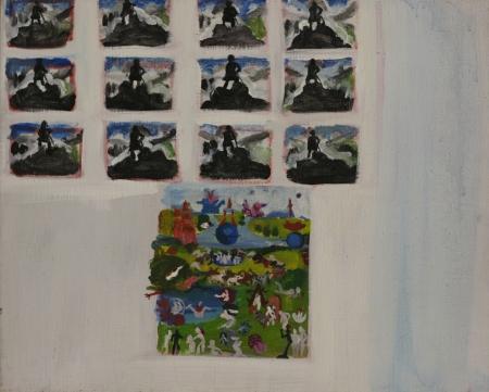 Otrok (z cyklu Otrok), 40 x 50 cm, akryl na plátně