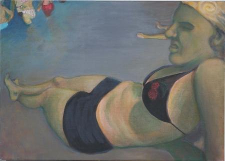 Pláž, 50 x 65 cm, akryl na plátně