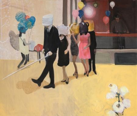 Ples I, 100 x 120 cm, akryl na plátně, 2017