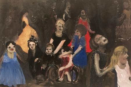 Ples IV, 50 x 80 cm, akryl na plátně, 2017