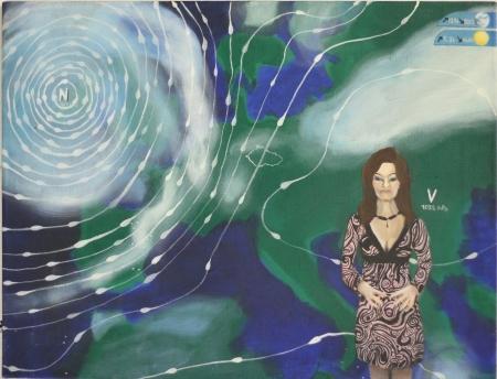 Počasí I, 50 x 70 cm, akryl na plátně