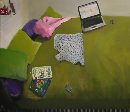 Pokojík I, 150 x 170 cm, akryl na plátně, 2010, soukromá sbírka