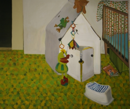 Pokojík - Muf, 145 x 170 cm, akryl na plátně, 2010