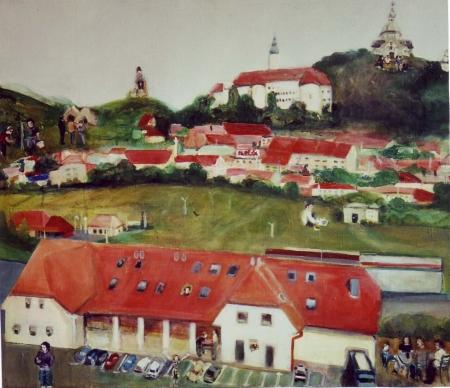 Mikulov, 50 x 70 cm, akryl na plátně, 2003, soukromá sbírka