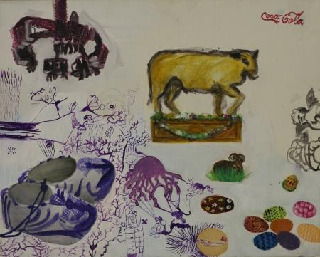 Víra (z cyklu Otrok), 40 x 50 cm, akryl na plátně