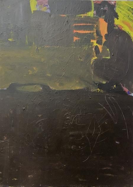 Žíněnka, 100 x 70 cm, akryl na plátně, 2016